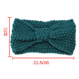 Winter Women Lady Ear Warmer Crochet Bowknot Turban Knitted Head Wrap Hairband Headband Headwear Acessórios de banda de cabelo