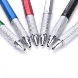 [بلّبوينت بن] مبتكر [مولتيفونكأيشن] مع [تووش سكرين] إبرة مفكّ [سبيريت لفل] مسطرة 6 في 1 أداة إدماج معدن أقلام