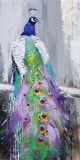 Abstrakter Acryltierfarbanstrich auf Segeltuch