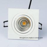 Diodo emissor de luz Recessed alta qualidade Downlight quadrado da microplaqueta 7W 9W da ESPIGA