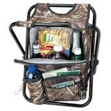 Sgabello piegante di campeggio dello zaino di pesca di caccia con il sacchetto più freddo 24-Can