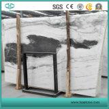 Lajes de mármore brancas da panda da pedreira de Jiangsu, mármore preto e branco