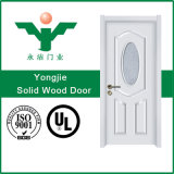 Porta de madeira interior cinzelada elegante da madeira contínua