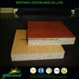 La haya, cereza, nuez, Wenge, roble, arce, conglomerado de /Melamine de la tarjeta de partícula de Melamined de la teca/laminó la tarjeta de partícula para el producto de los muebles