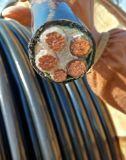 Алюминиевый проводник XLPE изолировал стальным силовой кабель ленты Armored обшитый PE