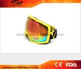 2017 anteojos de esquí impresos Googles más nuevos del motocrós de la nieve del Anti-Viento que se divierten Eyewear
