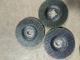 補強される粉砕車輪のためのガラス繊維の網