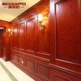 Placa de painel de parede de madeira decorativa esculpida moderna (GSP9-067)