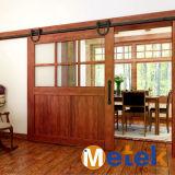 Slide de acero al carbono Negro interior rústica de puertas de madera