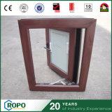 Качание деревянного окна Casement PVC двойное застекленное открытое