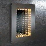 3D miroir de salle de bains d'infini de tunnel de la décoration DEL pour des annonces