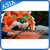Entertainment Inflatable Tiger Bungee Run Games for Party