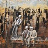 Verpletter het Acryl Houten Olieverfschilderij van Onedel Metaal 66