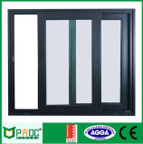 Ventana de desplazamiento de aluminio estándar australiana con la doble vidriera Pnoc0020slw