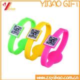 Wristband de encargo del silicón Wristband/RFID del código de Qr (XY-SW-001)