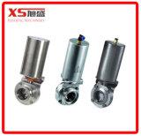 Válvula borboleta pneumática pneumática de aço inoxidável de aço inoxidável