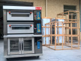 Печь палубы хлебопекарни изготавливания Китая электрическая с пультом управления цифров