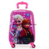 La valigia delle rotelle del fumetto 4 per i capretti ha spinto i bambini che rotolano i bagagli
