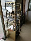 4레이어 로즈 금 색깔 스테인리스 선반 미러 완료 상점 진열대 OEM 스테인리스 가구