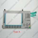 """Membranen-Tastaturblock-Schalter-Tastatur für 6AV6 643-0dd01-1ax0/6AV6 643-0dd01-1ax1/6AV6 10 542-0da10-0ax0 Schlüssel/6AV6 MP277 652-3nc01-1AA0 MP370 12 """" Schlüsselabwechslung"""