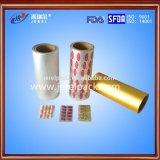 Folha de alumínio de empacotamento farmacêutico de 25 mícrons