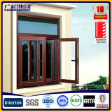 Ventana abatible de apertura con ventana de vidrio templado / aluminio