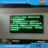 Waterproof P10 Outdoor Single Green Message Publicidade LED Text Display