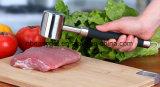 고기 망치 고기 연화제 나무매 공구, SUS304 스테인리스 닭, 쇠고기 및 돼지를 위한 느슨한 고기 망치 부엌 공구