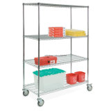 Shelving superior do fio de metal do cromo da venda por Racking Fatura no fornecedor de China