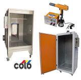Pacchetto del rivestimento della polvere per la piccola rifinitura dei metalli (cabina della polvere/forno/pistola di trattamento)