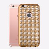 Grossistas Popular Luxo Electroplate Diamond Soft TPU Phone Case para iPhone 7