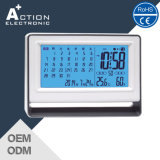De elektronische Digitale Klok van de Kalender van de Muur of van de Lijst met LCD Vertoning