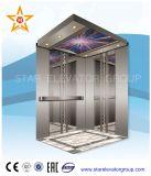 Passagier-Aufzug-Höhenruder mit Spiegel ätzte rostfreies Ende