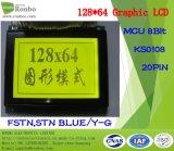 128X64 panneau lcd graphique, MCU 8bit, Ks0108, 20pin, moniteur graphique de l'ÉPI LCM
