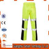Pantaloni riflettenti di sicurezza del lavoro degli alti pantaloni su ordinazione di visibilità