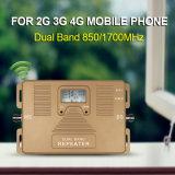 850/Aws1700MHz se doblan repetidor del aumentador de presión del teléfono de la llamada de la venda