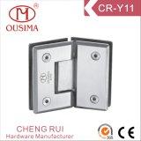 Glace d'acier inoxydable de 135 degrés à la charnière en verre de douche (CR-Y11)