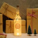 Blanco cálido LED cumpleaños Starlight botella de vidrio blanco hasta el mensaje sentimental botellas