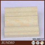Placa compuesta plástica de madera del azulejo de la pared de la oficina fuerte impermeable del color de la impresión