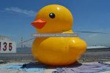 Fumetto giallo grande gonfiabile di galleggiamento esterno dell'anatra da vendere