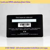 Cartão personalizado da cópia com o código de barras da assinatura para o cartão da identificação