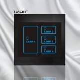 Marco de acrílico del interruptor del tacto de iluminación de 4 cuadrillas (SK-LT100L4)