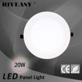 20W acrylique rond LGP avec le grand panneau d'éclairage LED de radiateur