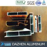 Tamanho personalizado da cor da grão do gabinete da mobília perfil de alumínio de madeira de alumínio