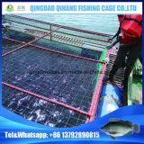HDPEの湖か川で使用される長い耐用年数の高い収穫の栽培漁業のケージ