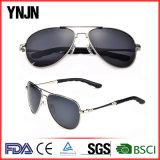 Горячее сбывание отсутствие солнечных очков стекел людей логоса UV400 пилотных (YJ-F8545)
