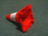 cone macio vermelho do tráfego do PVC da segurança de estrada de 350 milímetros