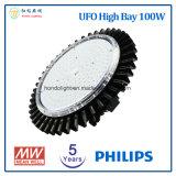 5 Jahre Garantie 100W UFO-LED hohe Bucht-Licht-mit Chip Philips-LED und Meanwell LED Fahrer
