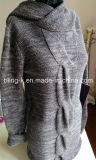 Qualité mélangée de filé de chandail de tricotage de Hoody pour des dames/femmes