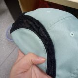 Unconstructedの綿6のパネルの薄緑の明白な野球帽の帽子